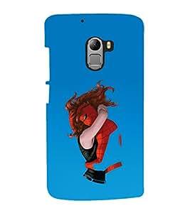 printtech Superhero Love Back Case Cover for Lenovo Vibe K4 Note