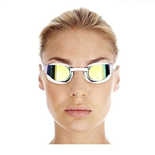 Speedo Elite Goggle Mirror - Gafas de natación unisex, color blanco /...