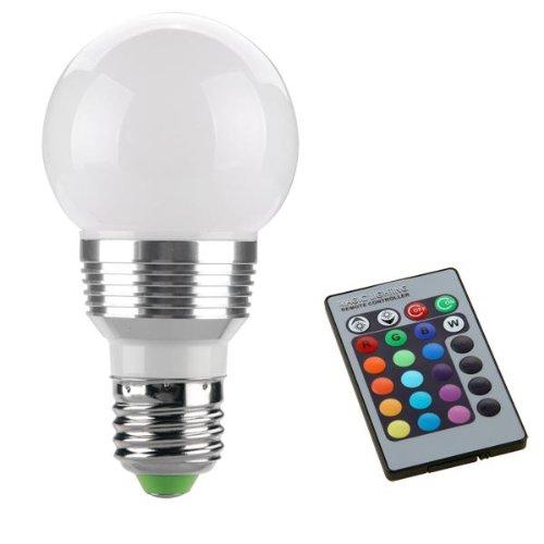 E27 RGB Foco LED Bombilla 3W 230V L�mpara Control Remoto 11.2*6*6CM