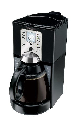 Oster 12-Cup Programmable Coffee Maker, Black