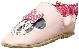 Robeez Disney Minnie Dot Flat (Infant), Pastel Pink, 0-6 Months M US Infant