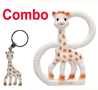 Sophie The Giraffe Teething Ring and key ring comes in gift box