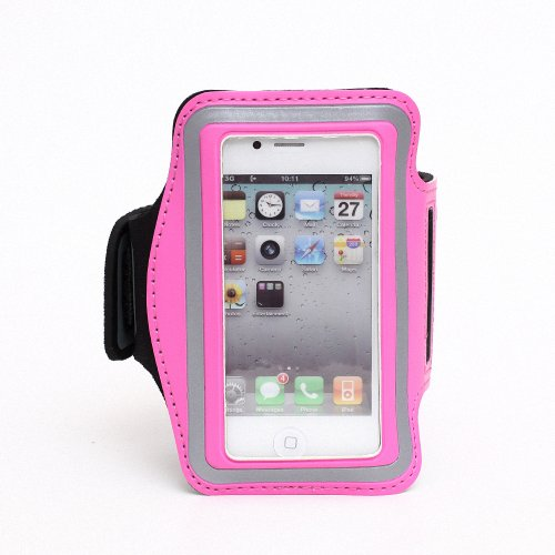 Slim Trendy Sport Armband Cover Case For Apple Iphone 4 4S(Hot Pink)
