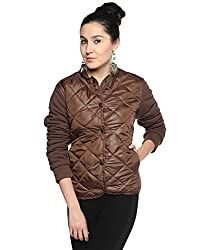 Campus Sutra Cotton Women's Bomber Jackets (AW15_JK_W_P6_BR_XL_Brown_X-Large)