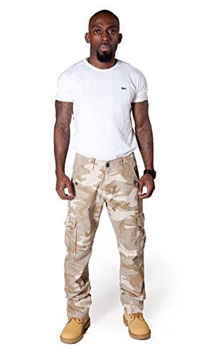 Pantaloni cargo uomo Mimetica Desert Militare gamba dritta pantaloni combat