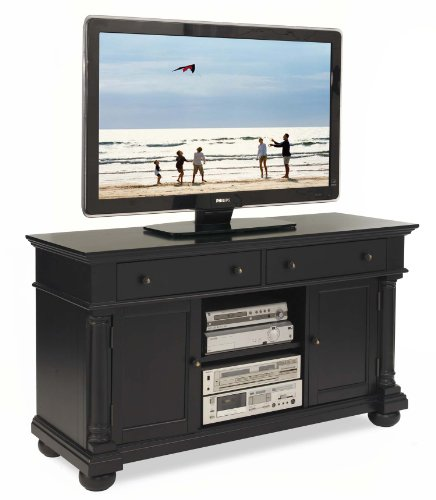 Cheap Home Styles St Croix TV Credenza Stand, Black (5901-10)