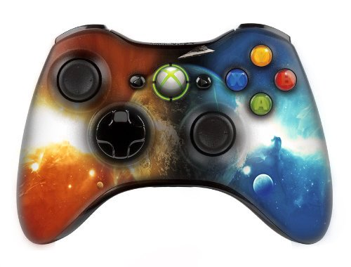 Xbox 360 Modded Controller (Space) With Inbuilt Central Leds/10 Modes Of Rapid Fire And Super Quick Scope