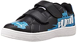 Puma Unisex James Jr Ind. Black, Blue Aster and White Sneakers - 1C UK