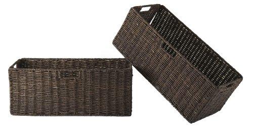 winsome-granville-foldable-large-corn-husk-basket-chocolate-2-piece
