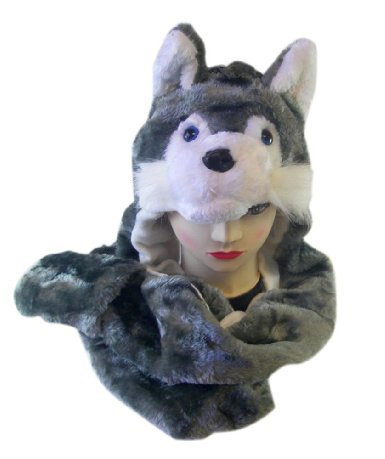 Plush Wolf Animal Hat