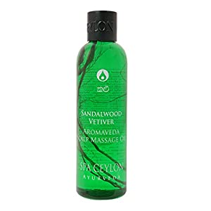Spa Ceylon Luxury Ayurveda Sandalwood Vetiver Aromaveda Scalp Massage Oil,250ml
