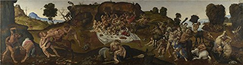 Oil Painting 'Piero Di Cosimo The Fight Between The Lapiths And The Centaurs' 18 x 67 inch / 46 x 169 cm , on High Definition HD canvas prints is for Gifts And Game Room, Gym And Study Room Decoration