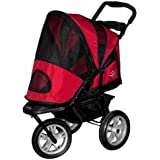 Pet Gear AT3 Generation 2 All- Terrain Pet Stroller for pets up to 60-Pounds, Red Poppy