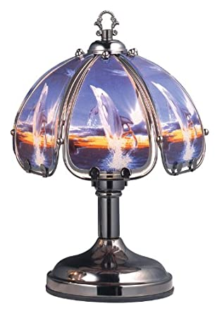 12 H Dolphin Theme Touch Lamp Ok Lighting Ok 504c Do6 Table