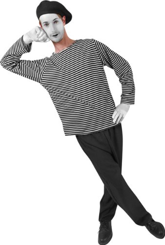 Adult Men's Mime Halloween Costume