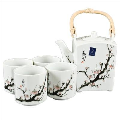 Buy Japanese Cherry Blossom Tree Tea Set (1 pot & 4 cups)