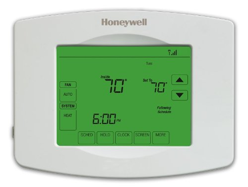 Honeywell Wi-Fi 7-Day Programmable Touchscreen Thermostat - RTH8580WF (Wifi Honeywell Thermostat compare prices)