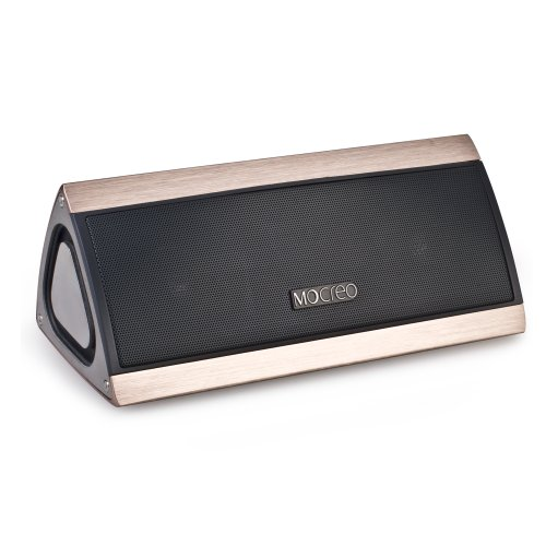 Mocreo® Ultra-Portable Wireless Bluetooth Speaker W/ 3D Surround Stereo Sound & Full Metal Housing - Wireless,Mobile,Rechargeable W/ Latest Csr Bluetooth 4.0 & Hands-Free & 8Hrs Playtime & 30Ft Bluetooth Range Woking For Any Bluetooth Enabled Devices: Iph