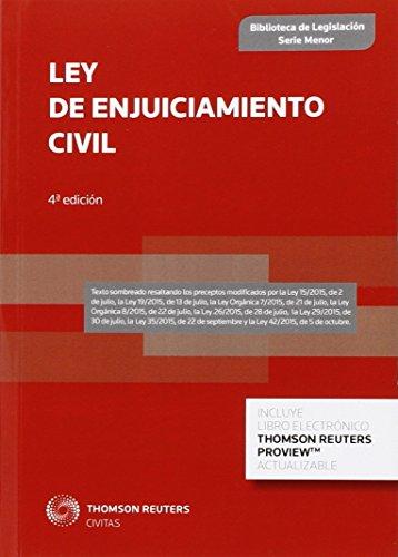 Ley De Enjuiciamiento Civil (Biblioteca de Legislación - Serie Menor)