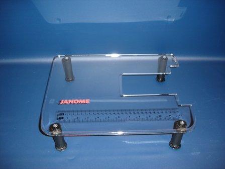"Dreamworld Clear Acrylic Sewing Machine Table for Janome Jem Gold 660661-Jem Gold II, 660-Jem, 662-Jem Silver, 665-Jem Gold III, 660G-Jem Gold Plus (11 1/2"" x 15"") primary"