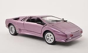 Lamborghini Diablo, lila, Modelo de Auto, modello completo, Motormax 1:24