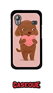 Caseque Give Me Your Heart C Back Shell Case Cover For Samsung Galaxy Ace