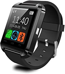 S-UNI U8 SPORTS BLUETOOTH SMART WATCH TOUCH CHORNOGRAPH SCREEN FOR ANDROID AND IOS WITH CALL, SELFIE, FITNESS FUNCTIONS