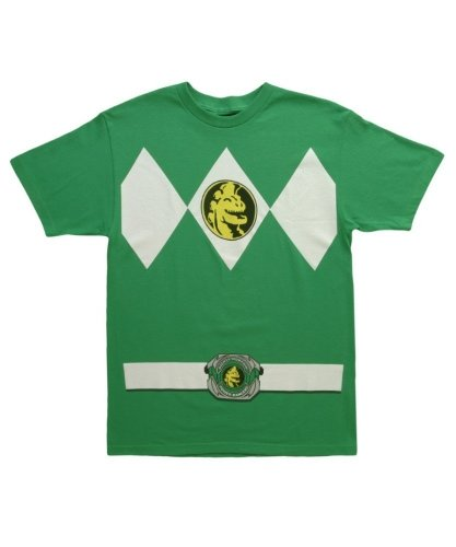 Mighty Morphin Power Rangers Men's Costume T-Shirt (Kelly Green, Small) (Green Ranger Shirt Kids compare prices)