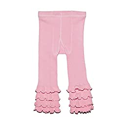 SKEANIE Tights Ruffle Pink 2 to 3 Years