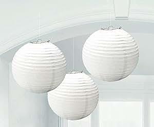 Amscan White Paper Lanterns