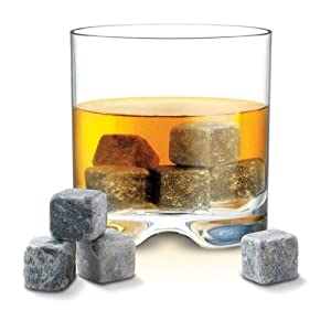 Whiskey Stones - Set of 9 Grey Whiskey Rocks - Includes Gift Box & Muslin Pouch - Made of 100% Pure Soapstone