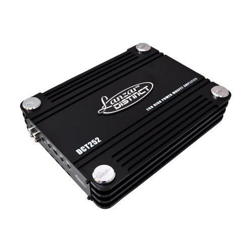 Lanzar Dct252 3000 Watt 2 Channel Full Fet Class Ab Amplifier
