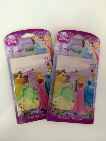 Disney Princess Wall Plates Electric Light Switch Covers W/ Screws, Set Of 2, Girl'S Bedroom, Cinderella, Belle, Aurora, Tiana,Disney Princesses front-104451