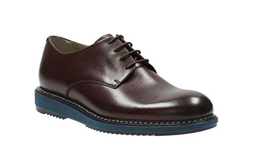 Clarks Habillé Homme Kenley Walk Cuir Chaussures De Rouge