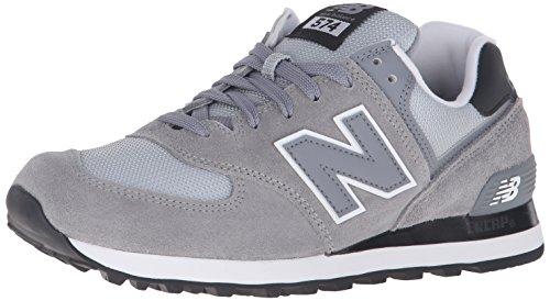 New Balance 574 Zapatillas de Running, Hombre, Plateado (Steel 071), 43 EU