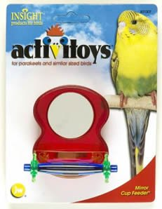 JW Pet Company Insight Mirror Feeder Cup Bird Toy