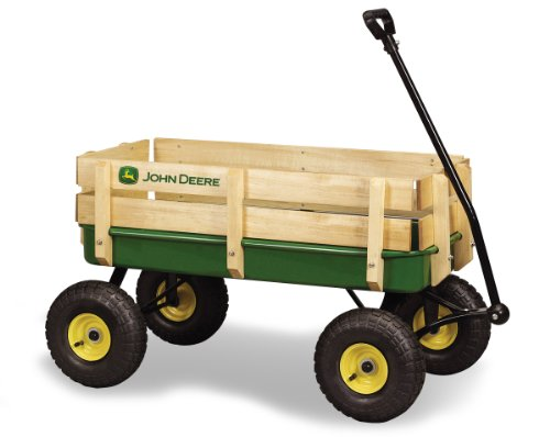 Ertl John Deere Steel Stake Wagon, Green back-997004