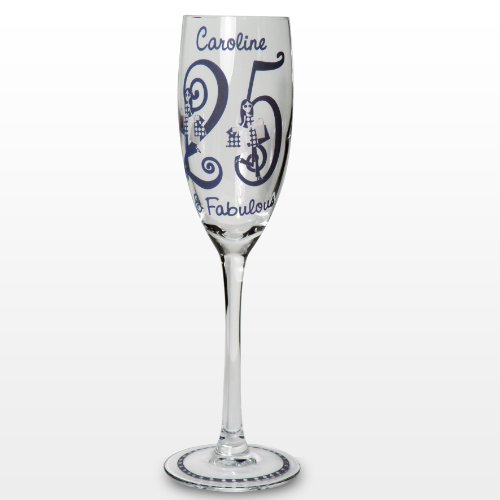 Fabulous Numbers Personalised Glass Champagne Flute Great Present Idea for Any Woman's Birthday Gift