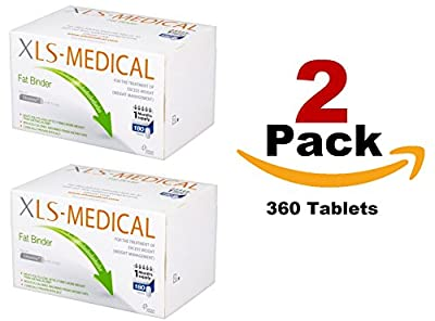XLS Medical 2 Pack Fat Binder Tablets Weight Loss Aid - 2 Month Supply Pack, 360 Tablets
