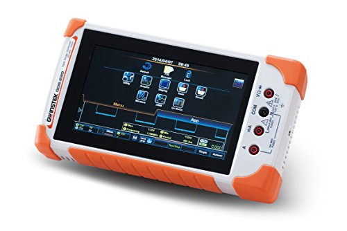 """GW Instek GDS-210 Touch Screen Oscilloscope, Compact Digital, 100MHz, 2 Channels, 7"""", 1 GSa/s Sample Rate, 1M Memory Depth per Channel, Built-in 5,000 Counts DMM"""