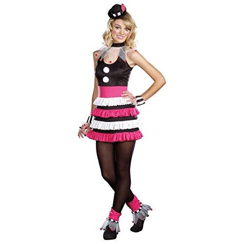 [GSG Clownin Around Costume Kids Circus Clown Halloween Fancy Dress] (Clownin Around Girls Costumes)