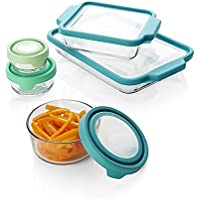 Anchor Hocking 10-Piece TrueFit/TrueSeal Bake Set with Mixed Color Lids