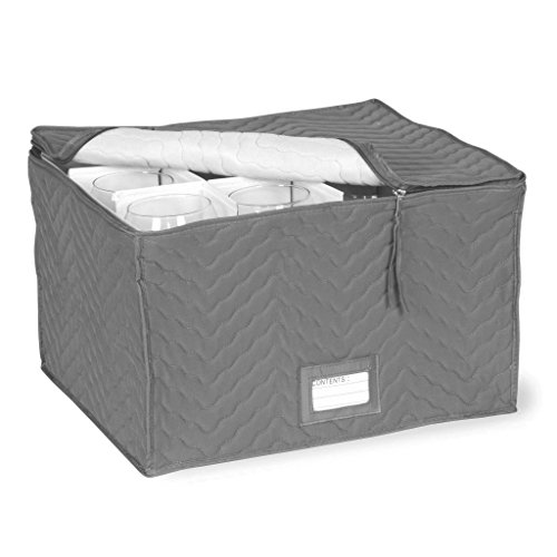 Stemware Storage Chest -Deluxe Quilted Microfiber ( 15.5
