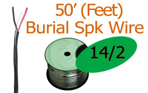 14/2 Awg 50 Ft Oxygen Free Direct Burial Rated Speaker Wire Ft4 (New)