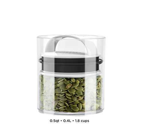 Evak Best Airless Storage Canisters, Patented & Designed in USA (Small Short) (Highest Rated Vacuum Cleaners compare prices)