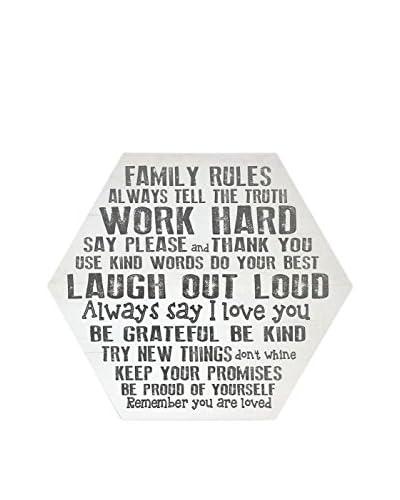 Panel Decorativo Family Rules