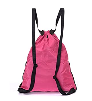Yinjue Foldable Basic Drawstring Tote Cinch Sack Promotional Backpack for Women Men And Kids Shopping Gym Sports 2