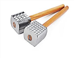 1 pc Aluminum Meat Tenderizer Mallet Hammer Wood Handle by New Star