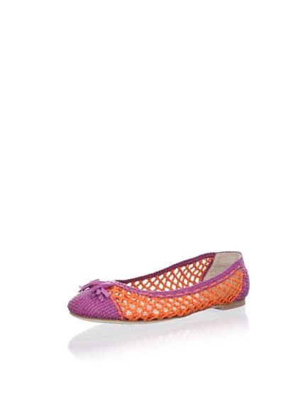 Chelsea Paris Women's Boho Woven Ballet Flat