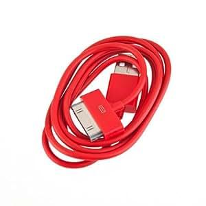 BestOfferBuy - Câble chargeur USB de couleur Rouge pour APPLE iPad, iPhone et iPod